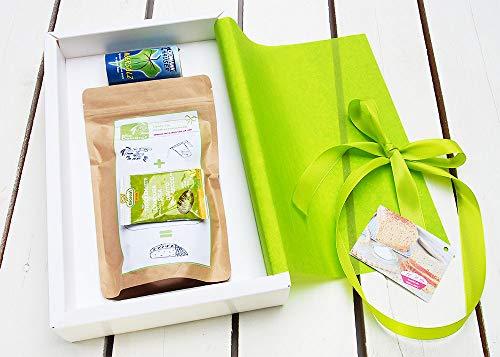 """Geschenkpaket Brot und Salz""""Alles Liebe"""" mit Meersalz von MixDeinBrot  Brot und Salz Geschenk zum Einzug   Salz und Brot-backmischung für Dinkelbrot, Geschenk zum Richtfest,"""