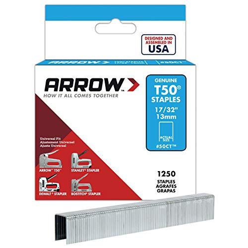 Arrow T50Heftklammern Box 1250ceiltile 13mm arrt50cts (Alte Version) Alte Master-flat
