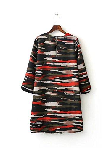 YLSZ-The Skirt Western Camouflage Graffiti Dress Short Skirt Women, Camouflage M Camouflage M