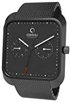 Reloj Obaku Harmony de cuarzo unisex con correa de acero inoxidable, color negro de Obaku Harmony
