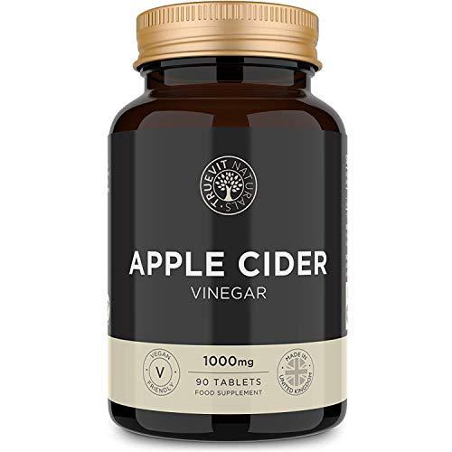 Apfelessig-Tabletten - 90 Leicht zu schluckende vegane Tabletten - 1000mg pro Portion