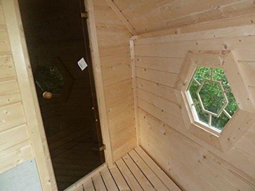 JUNIT Saunakota mit Vorraum, Fichte für ca. 6 Personen - 6
