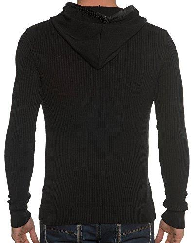BLZ jeans - Ende Ribbed Sweater Black Man Schwarz