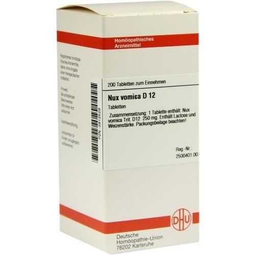DHU Nux vomica D12, 200 St. Tabletten -