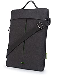"""CAISON Cross Body Shoulder Bag With Strip Laptop Sleeve Case For 12. 5"""" Notebook Computer / 12"""" - 12. 6"""" 2-in-..."""