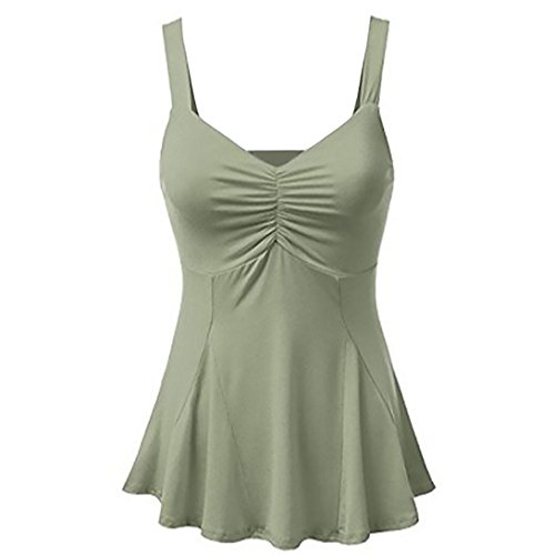 VJGOAL Women Summer Tank Tops Sexy Vest Blouse Camisole Sleeveless Casual T Shirts V Neck Solid Blouses