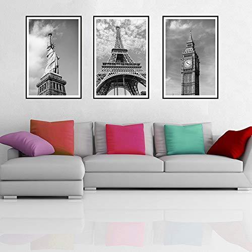 Cartel Torre Eiffel Nueva York París Arte minimalista