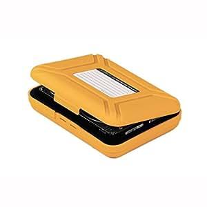ORICO PHX-35 BoitierORICO Schutzhülle für 3,5 Zoll HDD Festplatten Tragbare 3,5-Zoll-Festplatten-Schutz Box Aufbewahrungs-Box Schutz Kasten (Gelb)