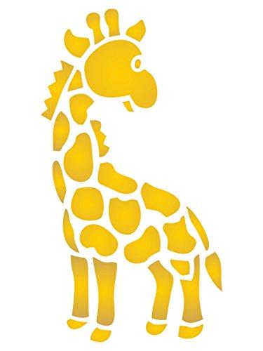 Baby Giraffe Schablone–wiederverwendbar Kinderzimmer Spielzeug Baby Wild Animal Wand Schablone–Vorlage, auf Papier Projekte Scrapbook Tagebuch Wände Böden Stoff Möbel Glas Holz etc. L