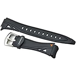 Casio STR-201-1V genuine replacement black resin band