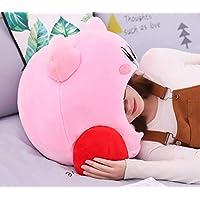 sundada Plush Toy Plush Soft Sleep Pillow Cap Kawaii Anime Game Kirby Sleep Pillow Cushion Soft Pet House Doll Toys Dropship 50Cm