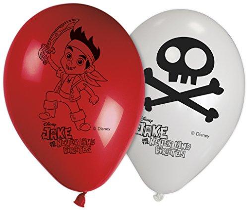 Disney 27,9cm Yo Ho Jake und die nie Land Piraten Luftballons, 8Stück