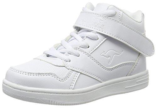 KangaROOS Skyline Kids, Baskets Basses Mixte Enfant, Blanc-Weiß (White 000), 34 EU