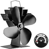 Coomir El Ventilador de la Estufa accionado por Calor con la Estufa de Madera del termómetro magnético ventila los silenciosos de Aluminio para la Chimenea