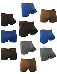 COOL24 - Pack de 4 ou 10 Boxers en microfibre sans couture - Homme