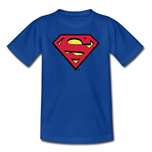 Spielen Sie Machen Eine Kostüm Superhelden - Spreadshirt DC Comics Superman Logo Original Teenager T-Shirt, 152/164 (12-14 Jahre), Royalblau