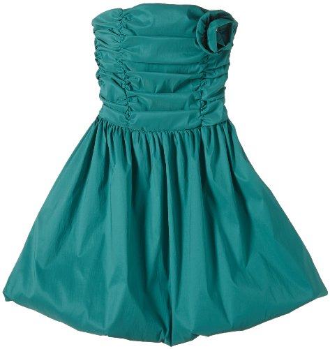G.O.L. Mädchen Kleid Stretch-Ponge-Ballkleid, Gr. 164, Grün (smaragd 5)