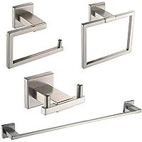 [Patrocinado]KES Baño 4 Piezas Hardware Set Accesorios SUS 304 Acero Inoxidable Montaje en Pared, Cepillado, LA242-42
