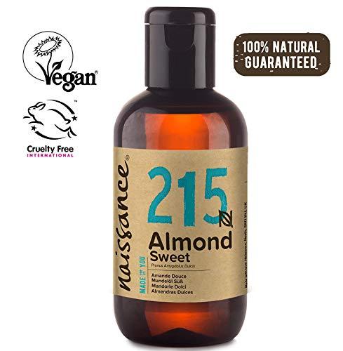 Naissance natürliches Mandelöl süß (Nr. 215) 100ml - Vegan, gentechnikfrei - Ideal zur Haar- und Körperpflege, für Aromatherapie und als Basisöl für Massageöle (Den Für Mandel-öl Süßes Körper)