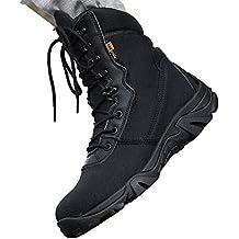 MHSXN Botas Del Ejército De Los Hombres Policía Militar Del Desierto Zapatos De Táctica Armados Aire