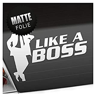 Kiwistar Like a Boss - Chef - Vorgesetzter Aufkleber Sticker 25 Farben Neon Matt