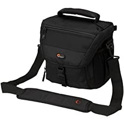 Lowepro Nova 170 AW - Bolso bandolera para cámaras réflex, negro