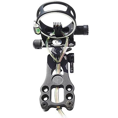 5 broches Chasse au tir à l'arc Vue d'Arc Composé Micro Ajustable