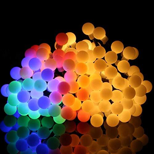 Kuty Lichterketten Für Zimmer, Lichterketten, 80 LED Kugeln Lichterkette Batteriebetrieben 10 Meter, Innen und Außen Lichterkette Glühbirne (Kommerzielle Led-weihnachtsbeleuchtung)