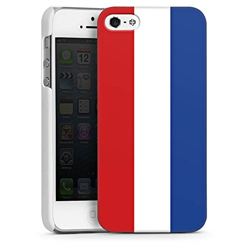 Apple iPhone 5s Housse Étui Protection Coque Pays-Bas Hollande Drapeau CasDur blanc