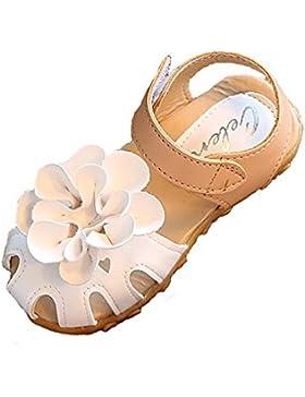 Sandalias con Punta Cerrada para Niña Gaatpot Infantiles Antideslizante del Zapato con Velcro,Tamaño:21-30 EU