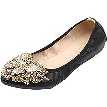 9fde46ab7254f Zapatos de Vestir para Mujer Otoño PAOLIAN Calzado de Dama Plano Maternidad Suela  Blanda Cómodos Moda