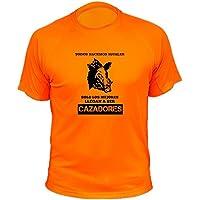 Camisetas de caza, Jabalí Clásico, Todos nacemos iguales solo los mejores llegan a ser cazadores (30143, Naranja, 3XL)