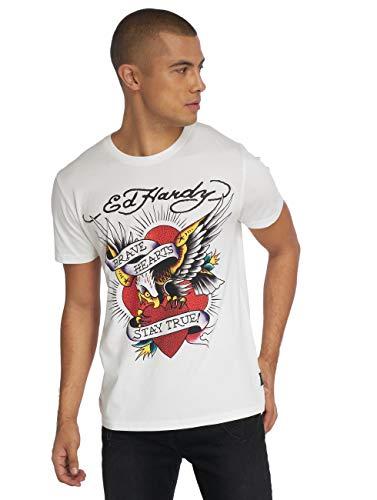 Ed Hardy Herren T-Shirts Stay True weiß M - Hardy T-shirt Ed