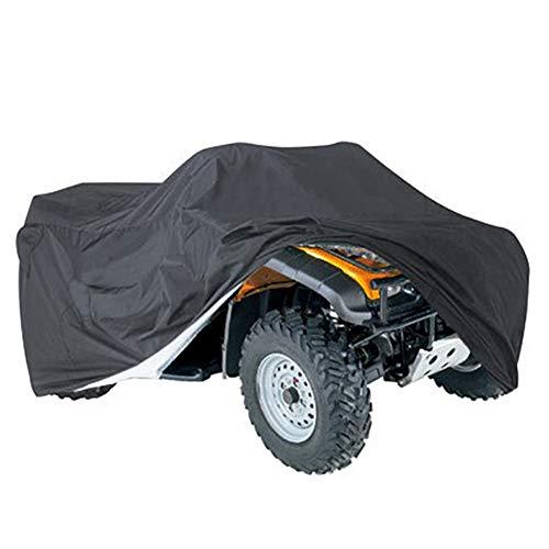 Cubierta para motocicleta, resistente al agua, a prueba de polvo, UV, con dobladillo elástico, protección para la mayoría de los tipos de vehículos ATV