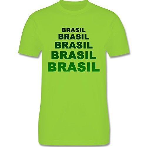 Länder - Brasil Fanshirt - Herren Premium T-Shirt Hellgrün