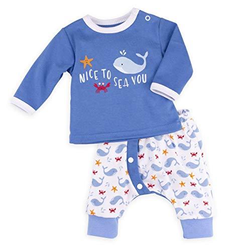 Baby Sweets Baby Set Hose + Shirt Jungen blau | Motiv: Nice to Sea You | Babyset mit 2 Teilen für Neugeborene & Kleinkinder | Größe 1 Monat (56)