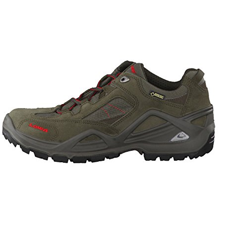 LOWA hommes randonnée GTX 310652-7940 l'ardoise de la chaussure / rouge, taille de 41,5 à 46, Gore-Tex, échangeables Vert