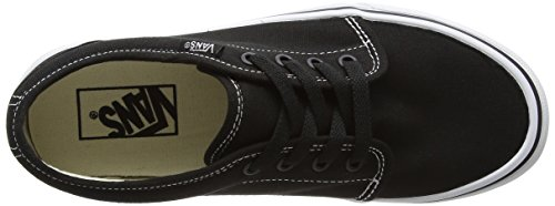 Vans U 106 Vulcanized, Baskets mode mixte adulte Noir (Black/White)