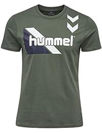 Hummel T-Shirt Herren - TABLE TEES KOSTA SS TEE - Trainingsshirt Baumwolle kurze Ärmel - Fitnessshirt Freizeit & Sport - Shirts bedruckt div. Farben Rundhals
