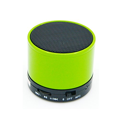 RASU Sexiest Speaker with feature of Feet Taping Music sound ||Super Sound ||Deep Bass ||Innovative Design ||Newest Design ||new edge technology ||Rechargeable Battery Bluetooth Speaker LED Wireless Bluetooth Speaker handsfree Calling Feature FM Radio & SD Card Slot , S10 GREEN Compatible with AMBRANE A555  available at amazon for Rs.599