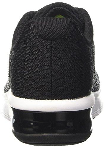 Nike Air Max Sequent 2 Gs, Scarpe da Ginnastica Bambino Nero (Black/Mtlc Silver/Dk Grey/Wolf Grey/Volt)