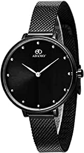 ADAMO Aritocrat Black Dial Women's & Girl's Watch 335NNM02
