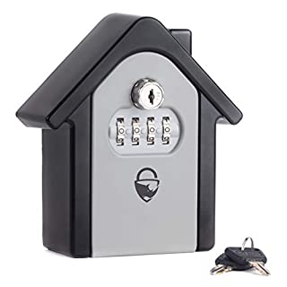 Rhino Lock Secure Home Combination Safe - Heavy Duty Wall Mounted Security Lock Box - Large Internal Storage for Keys with 4 Digit Lock, Emergency Key Access & Patented Code Recovery System #UKBrand