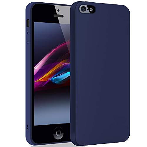 SDTEK Schutzhülle für iPhone SE / 5 / 5s (Marine) Matte Premium Soft Hülle Case [Silicone TPU] Cover