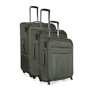 Antler Antler New Marcus Set of 3 - Large/Medium/Cabin Suitcase, 77 cm, 99.0 L, Khaki Koffer-Set, 99 liters, Grün (Khaki)