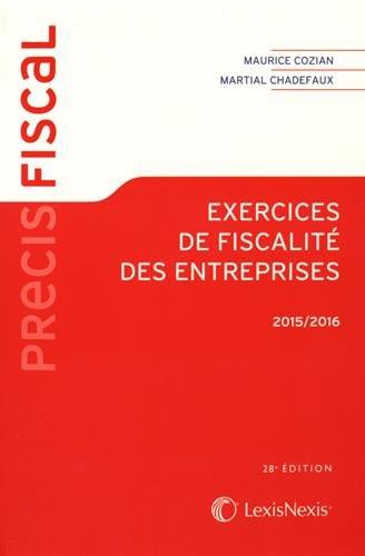 Exercices de fiscalité des entreprises 2015-2016