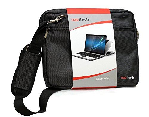 Navitech Schwarz Schnittig Premium- Water Resistant Stoßdämpfende tragen Beutel-Kasten für die Dell Vostro 3559