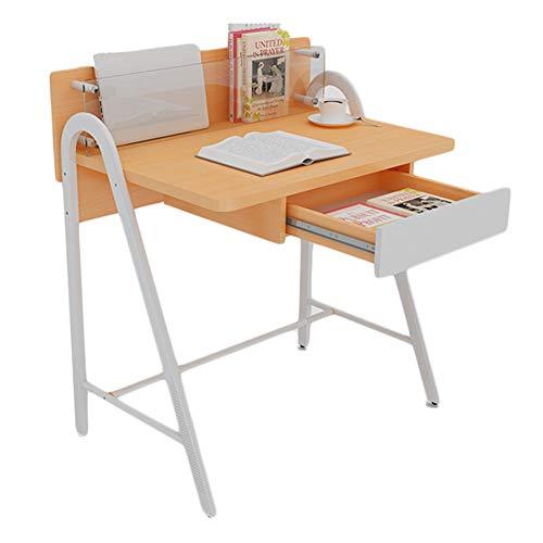 HAIPENG Mesa Ordenador En Pie Escritorio Portátil para Espacios Pequeños Bandeja Poseedor Estable, 2 Colores, 2 Estilos (Color : Color Madera, Tamaño : B)