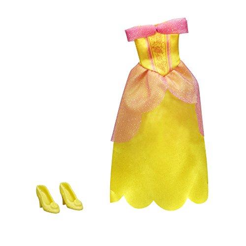 ro Schöne und das Biest, Prinzessin Belle - Kleidung, Puppenkleidung - Kleid für Puppe, glitzernd und Schuhe ()