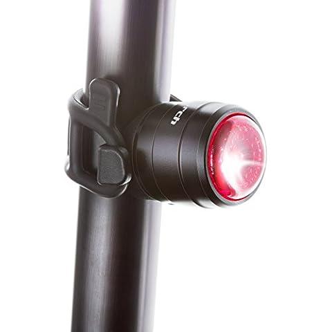 Ciclo linterna luz perno–USB Batería para bicicleta luz trasera, rojo trasera bicicleta luz LED, negro